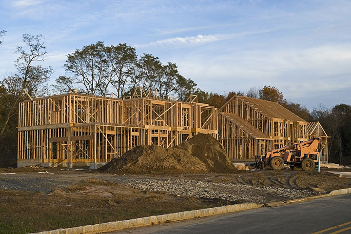 houses under construction in New Jersey